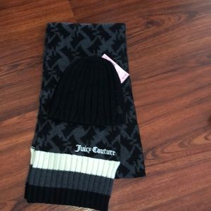 Juicy Couture Scarf & Hat set